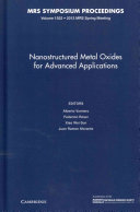 Nanostructured Metal Oxides for Advanced Applications  Book