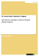 Internal Accounting Control at Kojach Pharm Limited