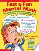 Fast   Fun Mental Math Book