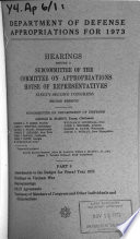 Hearings  Reports and Prints of the House Committee on Appropriations