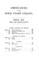 The Laws of the Gold Coast Colony