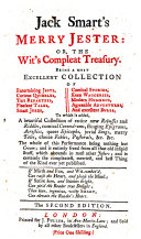 Jack Smart's Merry jester: or, The wit's compleat treasury. ...