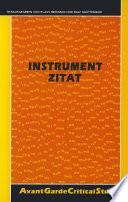 Instrument Zitat