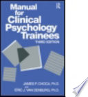 Cover of Manual for Clinical Psychology Trainees