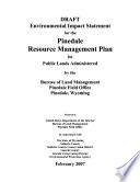 Pinedale Resource Management Plan