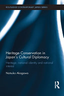 Heritage Conservation and Japan's Cultural Diplomacy