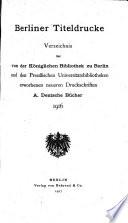 Berliner titeldrucke