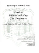 College of William   Mary Annual Tax Conference
