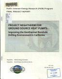 Project Negatherm for Ground Source Heat Pumps   Improving the Geothermal Borehole Drilling Environment in California