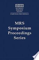 Microcrystalline and Nanocrystalline Semiconductors: Volume 358