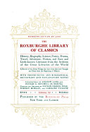 The Roxburghe Library of Classics