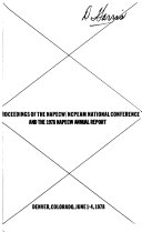 Proceedings Of The Napecw Ncpeam National Conference And The 1978 Napecw Annual Report