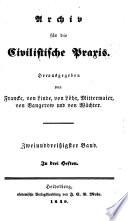 Archiv für die civilistische Praxis