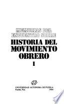 Memorias del Encuentro sobre Historia del Movimiento Obrero