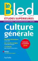 Bled Etudes Supérieures Culture Générale Pdf/ePub eBook
