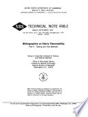 Bibliographies on Fabric Flammability: Testing and test methods