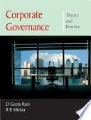 Corporate Governance  Theory and Practice Book