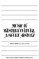 Music In Western Culture Book