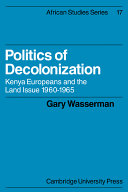 Politics of Decolonization