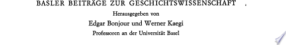 Johannes von M  ller im Urteil seiner scheizerischen und deutschen Zeitgenossen
