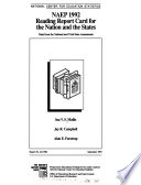 NAEP 1992 Reading Report Card for the Nation and the States
