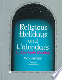 Religious Holidays and Calendars