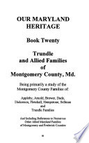 Trundle and Allied Families of Montgomery County, Md