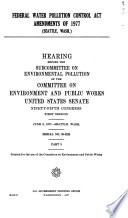 Federal Water Pollution Control Act Amendments of 1977: Seattle, Wash