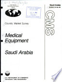 Medical equipment, Saudi Arabia