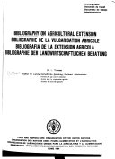 Bibliography on Agricultural Extension Book