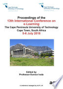 ICEL 2018 13th International Conference on e Learning