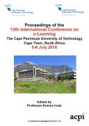 Pdf ICEL 2018 13th International Conference on e-Learning Telecharger
