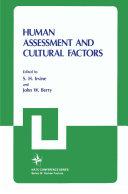 Human Assessment and Cultural Factors Pdf/ePub eBook
