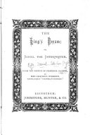 The king s dream  or  Daniel the interpreter  from the Fr  by mrs  C  Overend
