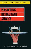 Pdf Mastering Restaurant Service