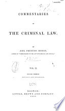 Commentaries on the Criminal Law