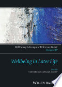 Wellbeing  A Complete Reference Guide  Wellbeing in Later Life Book