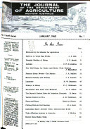 The Journal Of Agriculture Of Western Australia