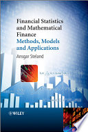 Financial Statistics and Mathematical Finance Book