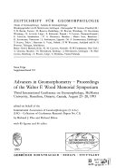 Advances in Geomorphometry