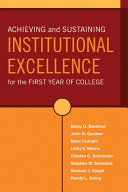 Achieving and Sustaining Institutional Excellence for the First Year of College Pdf/ePub eBook