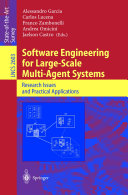 Software Engineering for Large Scale Multi Agent Systems