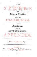 Pdf The Sphere of Marcus Manilius Made an English Poem