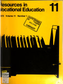 Resources in Vocational Education Book