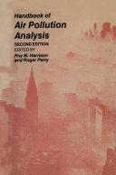 Pdf Handbook of Air Pollution Analysis Telecharger