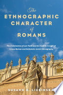 The Ethnographic Character Of Romans