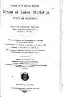 Annual Report of the Bureau of Labor Statistics of the State of Missouri