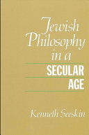 Jewish Philosophy in a Secular Age