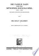 Die Familie Dahn und das Münchner Hofschauspiel (1833-1899)