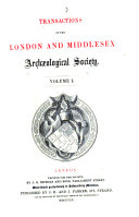 Transactions of the London and Middlesex Archæological Society
